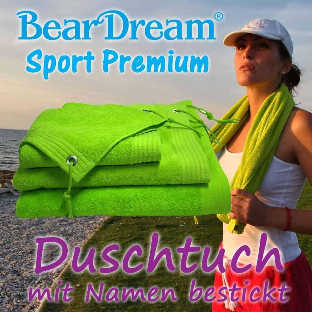 BearDream Sport Premium Duschtuch mit Text-Stic...