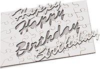 Holzpuzzle ´´Happy Birthday? mit Fotodruck