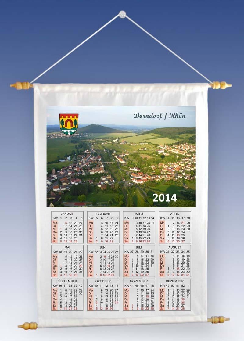 Stoff-Wandkalender mit Ihrem Foto