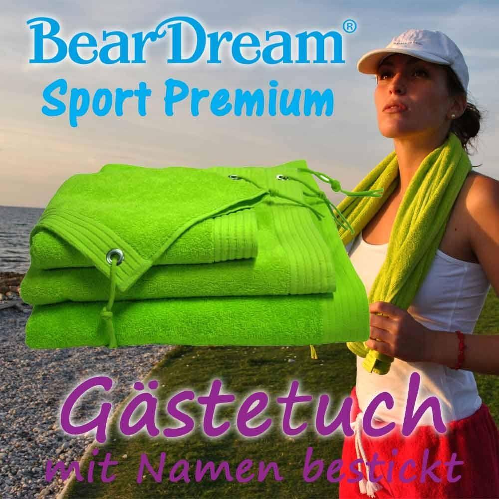 BearDream Sport Premium Gästetuch mit Text-Stic...