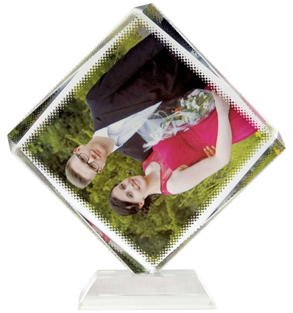 Quadratischer Glasblock mit Fotodruck CC06