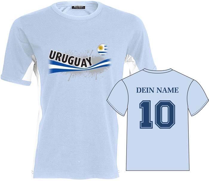 Fan-Shirt URUGUAY VINTAGE mit individuellem Rüc...